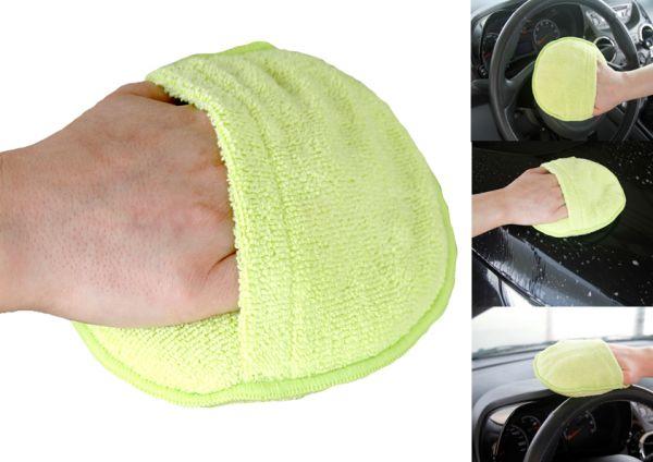 Microfaser Reinigungs- & Polierpad Handschuh, grün - MF309.3