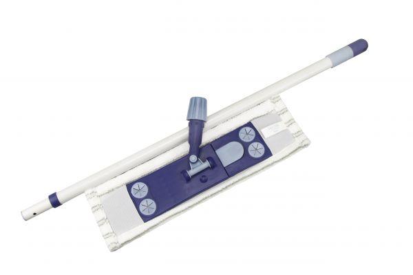 Magnet-Klapphalter-Wischer, 3tlg. Komplett-Set mit Teleskopstiel & Bezug - WS225.1