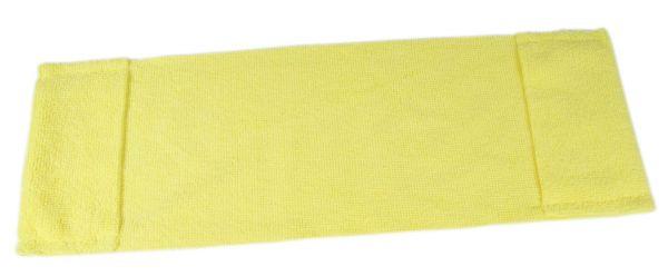 Microfaser Einweg-Mopp mit Taschen, 40cm, gelb, MPME312.2