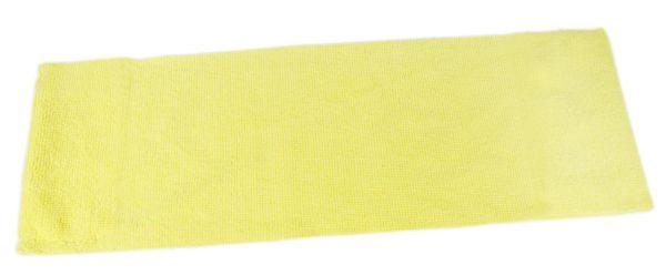 Microfaser Einweg-Mopp ohne Taschen, für Klettsysteme (Velcro), 40cm, gelb, MPME311.2